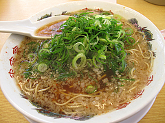 料理:背脂醤油ラーメン600円@ラーメン来来亭・大橋店・福岡