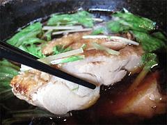 ランチ:鶏ごぼう汁・炙り華味鳥@生そば・あずま・長住店