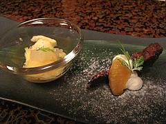 料理:グレープフルーツのムースとガトーショコラ@僧伽小野・糸島