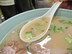 料理:ラーメン(塩とんこつ)スープ@長浜ラーメン味心・雑餉隈