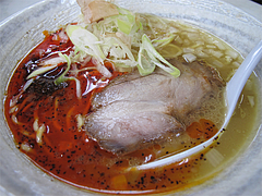 料理:節道ラーメン赤600円@節道・春日