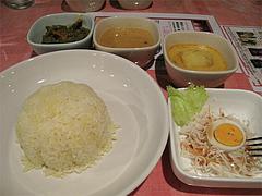 料理:ベジタブルセット750円@スリランカ料理ポルポル・天神