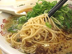 料理:背脂醤油ラーメン麺@ラーメン来来亭・大橋店・福岡