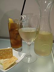 料理:ワインとジンジャーエール@フィッシュ&オイスターバー・キャナルシティ博多