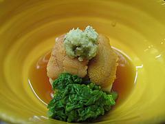 料理:白子豆腐の雲丹のせ@日本料理・花柚(はなゆう)・倉敷