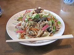 ランチ:皿うどん(焼いた麺)630円@中華料理・蘭蘭・春日