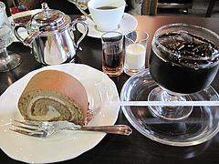 料理:ケーキセット840円@珈琲舎のだ 朝日ビル店(本店)