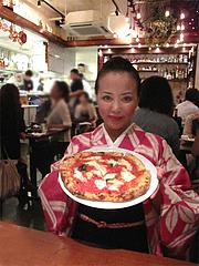 ディナー:マルゲリータの大きさ@Pizzeria Da Gaetano(ピッツェリア・ダ・ガエターノ)・薬院・福岡