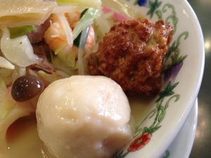 18特製什景湯麺の団子兄弟@江山楼中華街本店