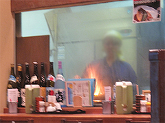 5店内:炭火もも焼き@竹乃屋・電気ビル
