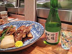 11食事:鯛荒炊きと福岡の日本酒@食事処きむら(木村)・中洲・和食
