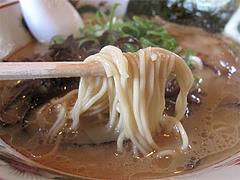 7ランチ:豚骨ラーメン麺@らーめん筑後屋・大野城店