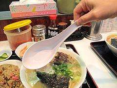 料理:レンゲでか!@本場久留米・うちだラーメン・那珂川