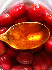 ミニトマト汁@トマトのみりん漬け