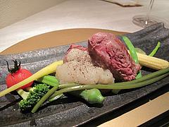 13フレンチ・和食:無角和牛のトモサンカクの真空低温調理@欧割烹・清水・桜坂