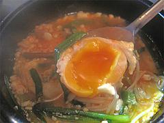 ランチ:スンデゥブ・チゲ玉子@韓国家庭料理ソウル亭・高砂