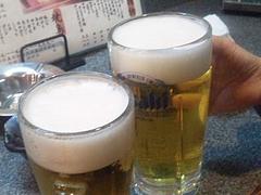 料理:生ビール@居酒屋王国・雑餉隈(ざっしょのくま)