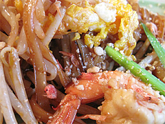 料理:パッタイ(タイ式焼きそば)の具@タイ屋台料理&ヌードル・オシャ