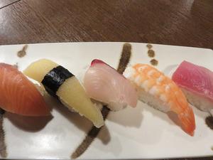 6本日のお寿司650円@ひなたぼっこ