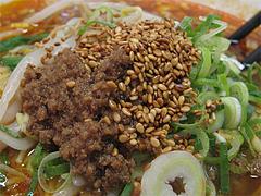 料理:サンラー麺肉味噌@大名ちんちん・赤坂