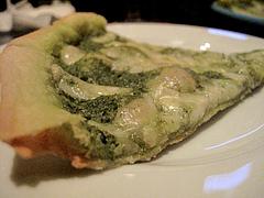 5ピザ:緑のバジリコピッツァ@ラカーサ・イタリアン・ワインバー
