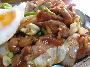 11スタミナ丼肉@トマト飯店