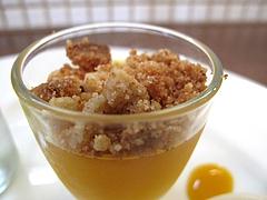 24ランチ:デザート・オレンジゼリー@食堂シェモア・フレンチ・イタリアン・洋食