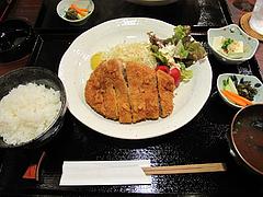 ランチ:ロースかつ定食780円@かつきち・大橋