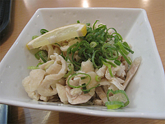 ランチ:鶏皮の酢の物@カラフル食堂・那の川