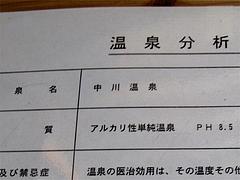 温泉分析表@中川温泉・蛙乃湯(蛙の湯)
