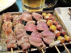 10焼鳥:銀杏・ズリ・バラなんこつ@焼とり・赤兵衛・姪浜・居酒屋