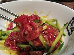 料理:混ぜる・国産牛ユッケ590円@牛角・東比恵店