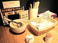 店内:卓上@もちもち麺工房松・住吉