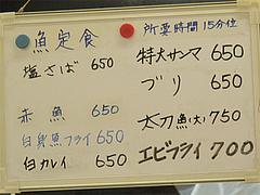 16メニュー:魚定食@定食の味作食堂