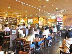 店内:テーブル席@ハローコーヒー清水店