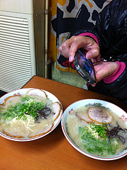 ラーメンとチャーシューメン@めんとく屋(麺篤屋)