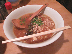 ランチ:味噌ラーメン縮麺単品680円@烏骨鶏ラーメン・天照