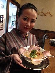 ランチ:豚ロースチャーシューめん680円@ラーメン・中華そば・郷家・天神店
