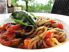 料理:パスタランチのフレッシュトマトとバジルのトマトパスタ@PALM BEACH R style(パームビーチ アールスタイル)
