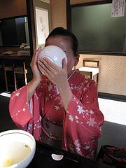料理:生姜湯飲む@博多つけうどん・忍々・櫛田神社前