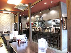 店内:カウンター席@博多つけ蕎麦・串揚げ・博多大乗路・櫛田神社