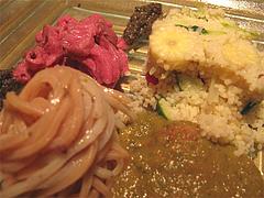 6フレンチ・トマト麺・苦瓜のガスパチョ・ヤングコーンときゅうりのクスクス@欧割烹・清水・桜坂
