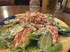 料理:ローストチキンサラダ@インターネットカフェ『キャットクレア CAT CREA』・グアム