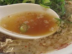 料理:背脂醤油ラーメンスープ@ラーメン来来亭・大橋店・福岡
