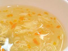 料理:マーボ丼定食のスープ@竹園・百年橋店
