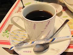 料理:メンオムランチのソフトドリンク(コーヒー)@五穀けやき通り店・福岡市中央区赤坂
