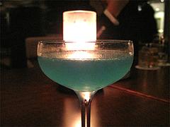 料理:青いカクテル@スカイラウンジ『リーガトップ』・リーガロイヤル小倉
