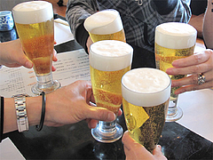 5ランチ:生ビール@天ぷら・あきよし・室見