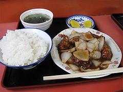 ランチ:酢豚定食600円@小笹飯店