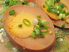 料理:玉子ラーメンの固ゆで煮玉子@博多ラーメンばりこて長浜店